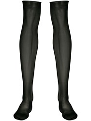 Maison Close Sheer Knee Length Stockings Black