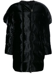 Salvatore Ferragamo Puffer Jacket Silk Feather Down Polyamide Viscose Black