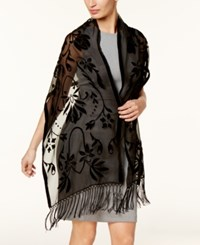 Inc International Concepts Floral Scroll Evening Wrap Created For Macy's Black