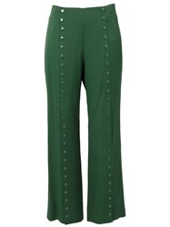 Rosie Assoulin Studded Wide Leg Trousers Green