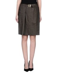 Caractere Skirts Knee Length Skirts Women Khaki