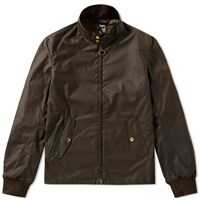 Barbour Steve Mcqueen Wax Windcheater Jacket Green