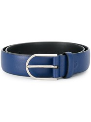 Canali Leather Belt Blue