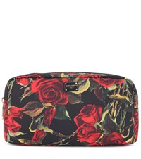 Dolce And Gabbana Floral Printed Cosmetics Case Red