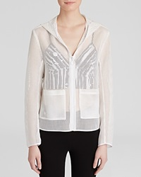 Clover Canyon Jacket Square Mesh White