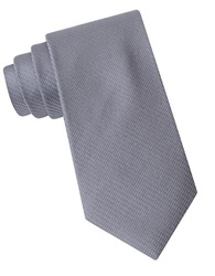 Kenneth Cole Silk Micro Grid Tie Charcoal