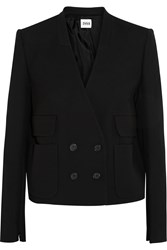 Issa Peggy Crepe Double Breasted Blazer Black