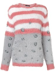 Guild Prime Fluffy Jumper Acrylic Nylon Polyester Grey