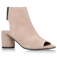 Kg By Kurt Geiger Raw Peep Toe Ankle Boots Taupe