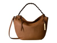 Vince Camuto Luela Small Hobo Dark Rum Hobo Handbags Tan