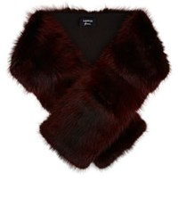 Lanvin Women's Fur Stole Burgundy