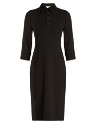 Goat Carrie Wool Crepe Dress Black