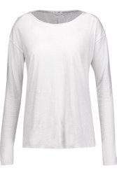 Rag And Bone Slacker Cotton Jersey Top White
