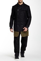 Y 3 Flannel Insulated Coat Black