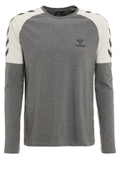 Hummel Asher Long Sleeved Top Dark Grey Melange