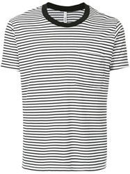 Attachment Striped Fitted T Shirt White