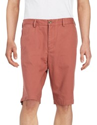 Black Brown Big And Tall Cotton Twill Shorts Antica Red
