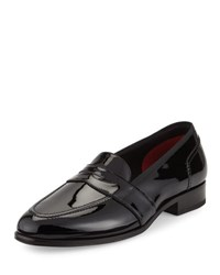 Tom Ford Taylor Patent Leather Penny Loafer Black