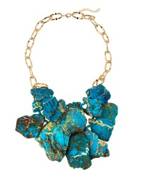 Panacea Layered Statement Necklace Turquoise