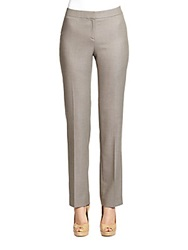 Lafayette 148 New York Wool And Silk Blend Barrow Suit Pants Nougat