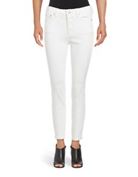 Free People High Rise Skinny Jeans White
