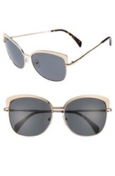 Draper James Women's 60Mm Cat Eye Sunglasses Shiny Gold