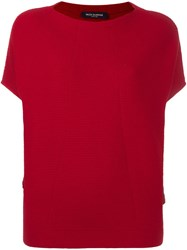 Piazza Sempione Shortsleeved Sweater Red