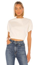 Line And Dot Everson Set Top In Cream. Off White