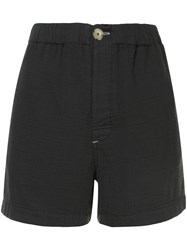 Bassike Washed Herringbone Holiday Shorts Blue
