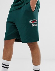 Puma Cell Pack Shorts In Green Gray
