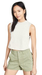 3X1 Cropped Muscle T Shirt Heather Grey