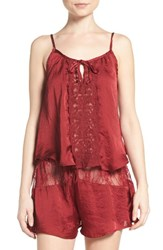 Band Of Gypsies Women's Lace Inset Camisole