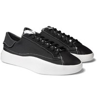 76c5cc34c Y 3 Tangutsu Canvas Suede And Leather Sneakers Black