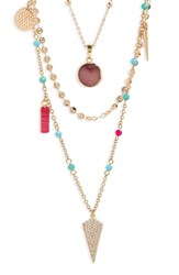 Panacea Multi Stone Layered Necklace