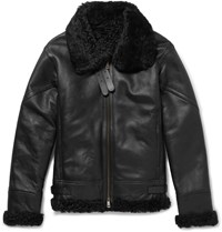Jil Sander Shearling Jacket Black