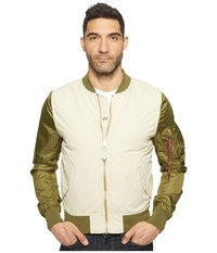 Alpha Industries L 2B Dragonfly Blood Chit Jacket Vintage White Jungle Green Coat