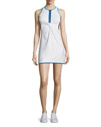 Monreal London Twist Front Tennis Dress Women's Size L Lagoon