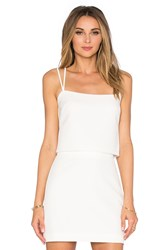 Milly Emery Cross Back Tank Top White