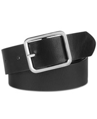 Inc International Concepts I.N.C. Casual Solid Belt Created For Macy's Black