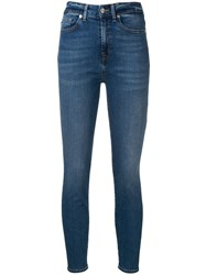 7 For All Mankind Skinny Jeans Blue