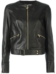 Philipp Plein Belted Hem Jacket Black