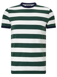 Fred Perry Sports Authentic Striped Ringer T Shirt Ivy