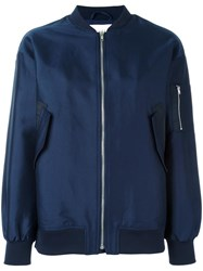 Just Female 'Theory' Bomber Jacket Blue