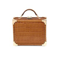 Aspinal Of London Mini Trunk Tan