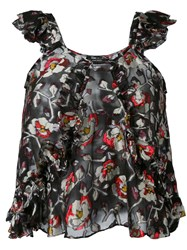 Isabel Marant Piety Top Women Silk Polyester 38 Black