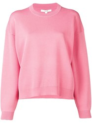 Dagmar Long Sleeve Fitted Sweater Pink