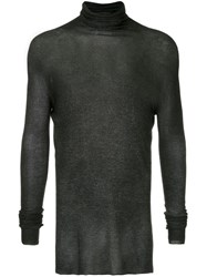 Avant Toi Roll Neck Sweater Grey