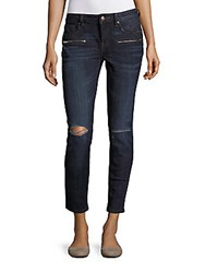 Vigoss Chelsea Distressed Cropped Jeans Dark Wash