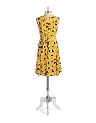 Jones New York Patterend Fit And Flare Dress Marigold