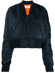 Ambush Zipped Bomber Jacket Black